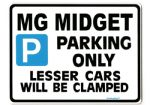MG MIDGET LargeSign for 1500 1275 RWA Mk I II III 2 3